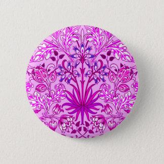 Bóton Redondo 5.08cm Impressão, lavanda e violeta do jacinto de William
