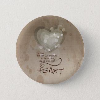 Bóton Redondo 5.08cm Incentivo religioso do coração, Grunge