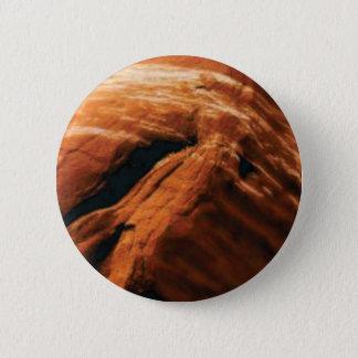 Bóton Redondo 5.08cm inchando a rocha vermelha