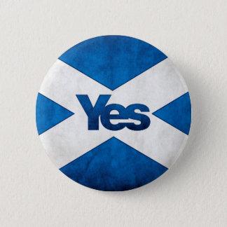 Bóton Redondo 5.08cm Independência escocesa - de Saltire crachá sim