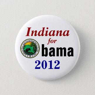 Bóton Redondo 5.08cm Indiana para Obama 2012