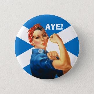 Bóton Redondo 5.08cm Indy Rosie o rebitador diz Aye o botão