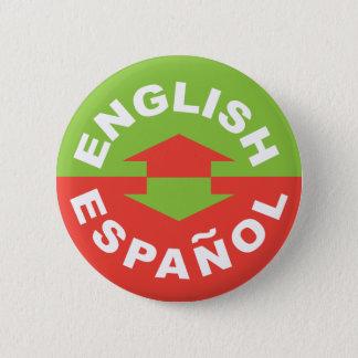 Bóton Redondo 5.08cm Inglês Español - eu falo o espanhol