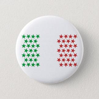 Bóton Redondo 5.08cm Inspirado pela bandeira italiana. Edição das