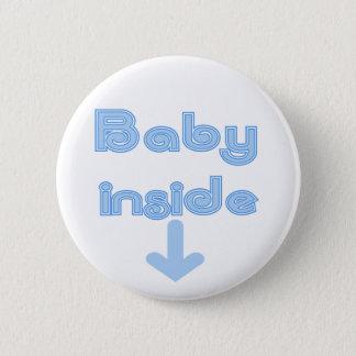 Bóton Redondo 5.08cm Interior do bebê azul - personalizado