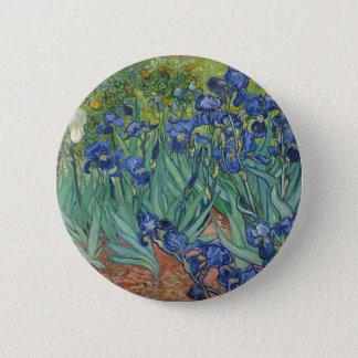Bóton Redondo 5.08cm Íris de Vincent van Gogh que pintam o trabalho de