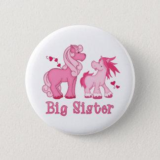 Bóton Redondo 5.08cm Irmã mais velha cor-de-rosa de Ponys