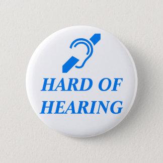 Bóton Redondo 5.08cm ISD com deficiência auditiva, azul no branco