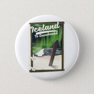 Bóton Redondo 5.08cm Islândia ao Snowboard