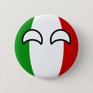 Bóton Redondo 5.08cm Italia Geeky de tensão engraçada Countryball