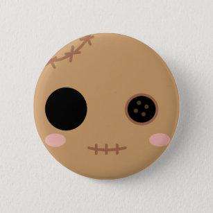 Bóton Redondo 5.08cm Itami a cabeça da boneca do Voodoo