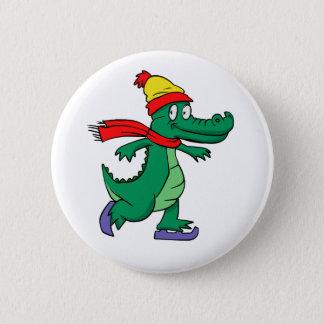 Bóton Redondo 5.08cm Jacaré que patina com chapéu e lenço