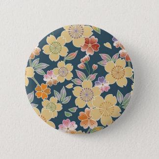 Bóton Redondo 5.08cm Japão, Sakura, quimono, Origami, Chiyogami, flor,
