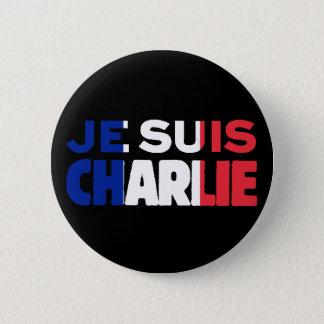 Bóton Redondo 5.08cm Je Suis Charlie - eu sou Tri Cor de Charlie de