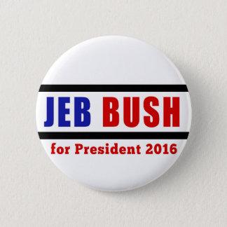 Bóton Redondo 5.08cm Jeb Bush para o presidente em 2016