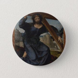 Bóton Redondo 5.08cm Jesus Cristo com cruz