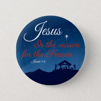 Bóton Redondo 5.08cm Jesus é a razão para o botão da estação