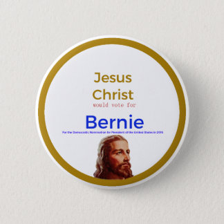 Bóton Redondo 5.08cm Jesus para Bernie