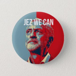 Bóton Redondo 5.08cm #JezWeCan - crachá de Jeremy Corbyn 4 PM