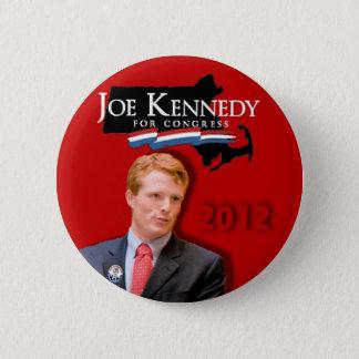 Bóton Redondo 5.08cm Joe Kennedy para o vermelho do congresso