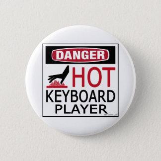 Bóton Redondo 5.08cm Jogador de teclado quente