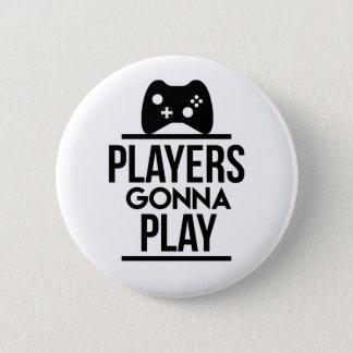 Bóton Redondo 5.08cm Jogadores que vão jogar o botão de Xbox