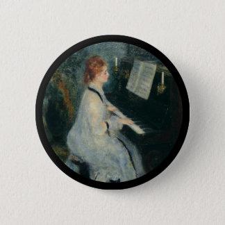 Bóton Redondo 5.08cm Jogando o piano pela luz de vela