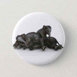 Bóton Redondo 5.08cm jogo pequeno bonito dos elefantes do bebê