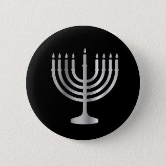 Bóton Redondo 5.08cm Judaísmo Menorah