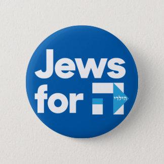 Bóton Redondo 5.08cm Judeus para o botão azul hebreu de H Hillary