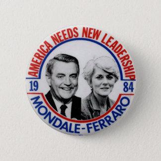 Bóton Redondo 5.08cm Jugate de Mondale-Ferraro - botão
