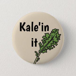"Bóton Redondo 5.08cm ""Kale'in ele"" botão da chalaça do vegetariano"