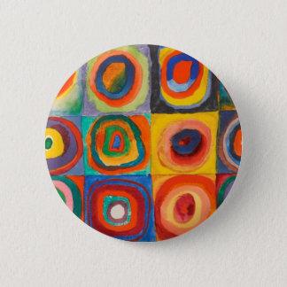 Bóton Redondo 5.08cm Kandinsky esquadra círculos concêntricos