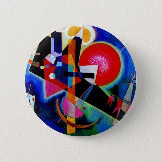 Bóton Redondo 5.08cm Kandinsky na pintura do abstrato do azul