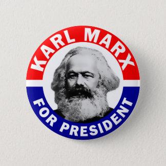 Bóton Redondo 5.08cm Karl Marx para o presidente