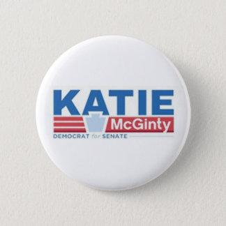 Bóton Redondo 5.08cm Katie Mcginty para o botão do Senado