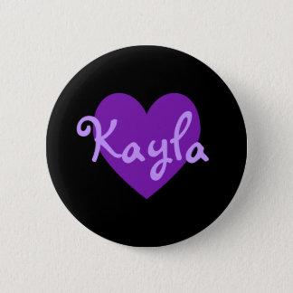 Bóton Redondo 5.08cm Kayla no roxo