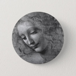Bóton Redondo 5.08cm La Scapigliata por Leonardo da Vinci