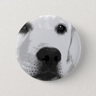 Bóton Redondo 5.08cm Labrador retriever preto e branco