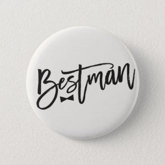 Bóton Redondo 5.08cm Laço da escova de Bestman que Wedding o botão
