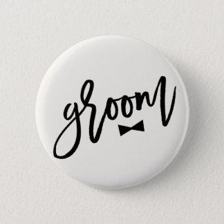 Bóton Redondo 5.08cm Laço da escova do noivo que Wedding o botão
