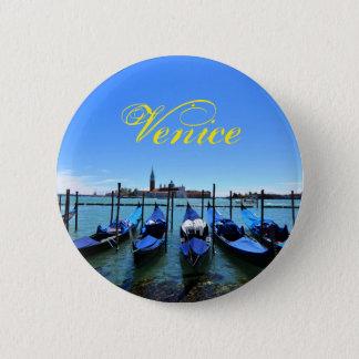 Bóton Redondo 5.08cm Lagoa azul em Veneza, Italia