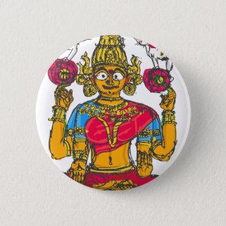 Bóton Redondo 5.08cm Lakshmi/Shridebi na pose da meditação