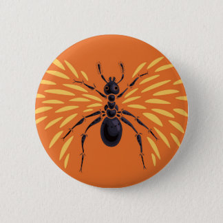 Bóton Redondo 5.08cm Laranja voada da formiga impetuosamente