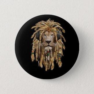 Bóton Redondo 5.08cm leão da reggae