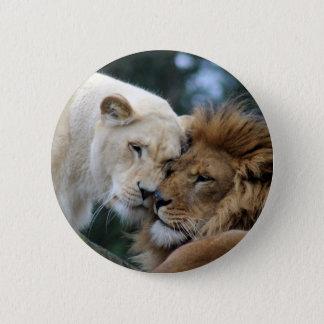 Bóton Redondo 5.08cm Leão e leoa