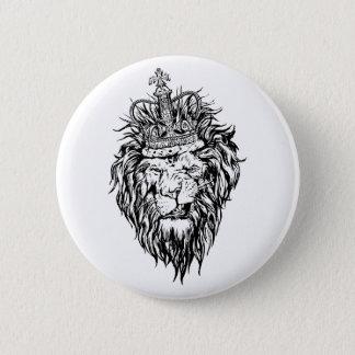Bóton Redondo 5.08cm Leão na coroa