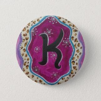 Bóton Redondo 5.08cm Letra K do monograma