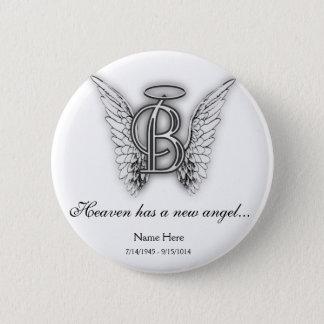 Bóton Redondo 5.08cm Letra memorável B do tributo do monograma