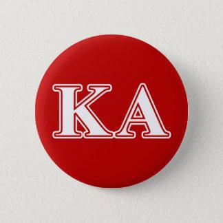 Bóton Redondo 5.08cm Letras brancas e vermelhas da ordem alfa do Kappa